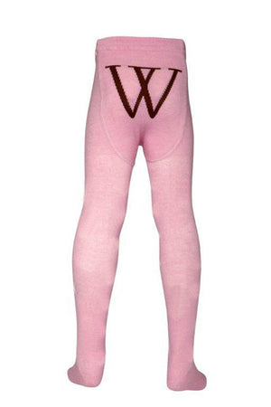 Walnut - Girls Pink Tights | Tights | Bon Bon Tresor