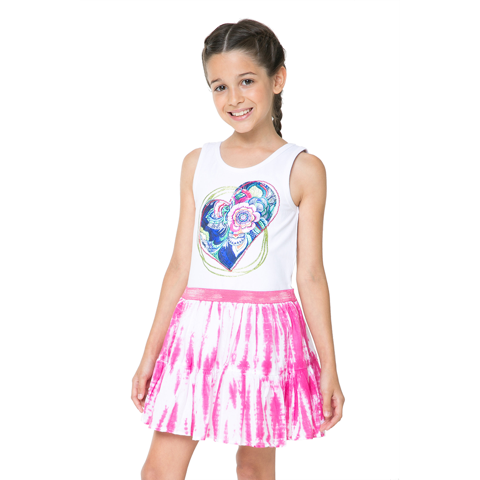 Desigual Kidswear - Girls Heart Motif Moroni Dress | Dresses & Skirts | Bon Bon Tresor