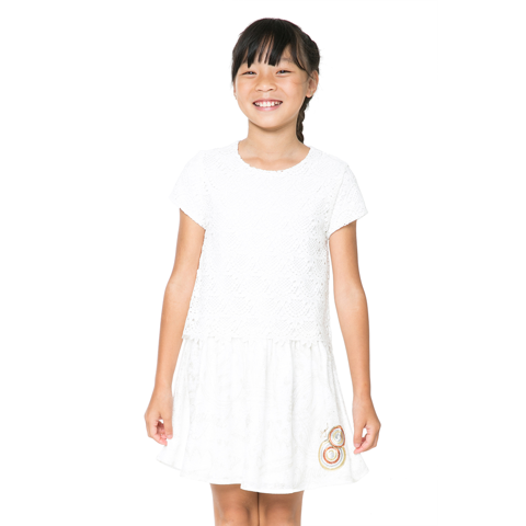 Desigual Kidswear - Girls Ivory Topeka Dress | Dresses & Skirts | Bon Bon Tresor