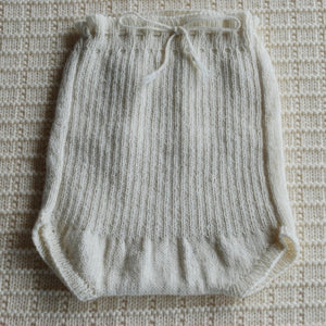 Monsters In Mittens- Merino Wool Hand Knit Baby Pilchers Ribbed | Pants & Shorts | Bon Bon Tresor