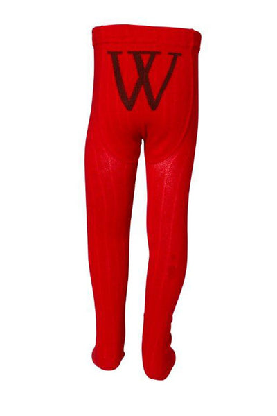 Walnut - Girls Red Tights - Bon Bon Tresor