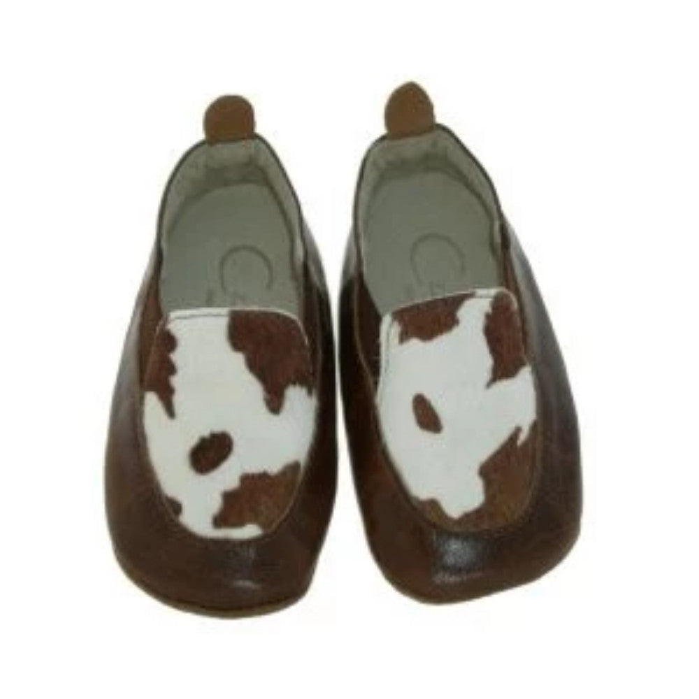 Czarque Baby Shoes- Baby Boy Cow Print Urbane Loafers | Moccasins & Loafers | Bon Bon Tresor