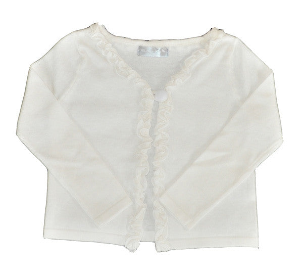 Willow and Finn - Girls White Cardigan - Bon Bon Tresor - 2