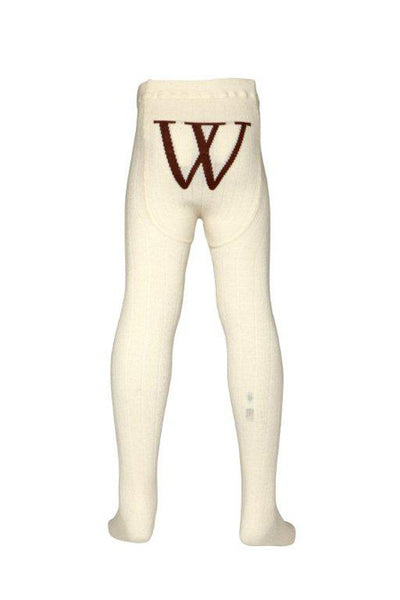 Walnut - Girls Cream Tights | Tights | Bon Bon Tresor
