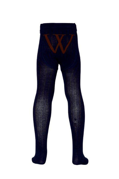 Walnut - Girls Navy Tights | Tights | Bon Bon Tresor