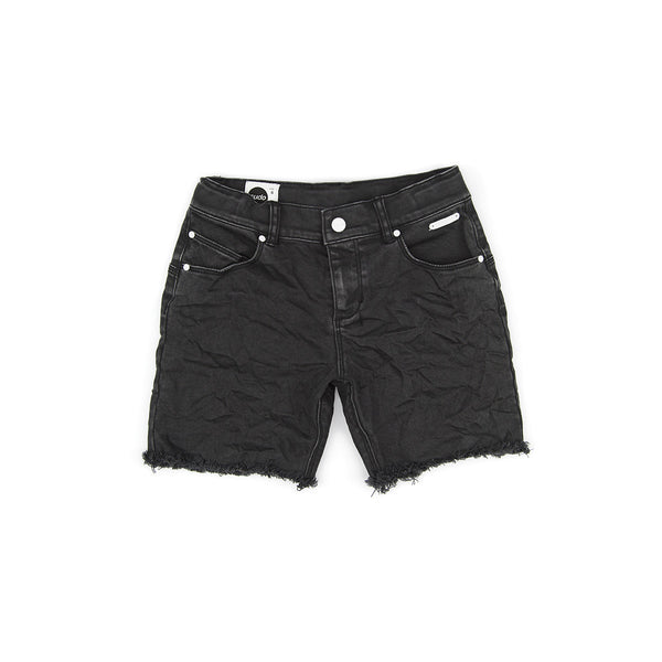 Sudo Kids - Boys Black Fracture Denim Shorts - Bon Bon Tresor - 1