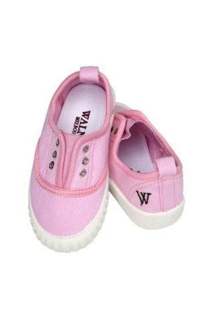Walnut Shoes - Girls Pink Tennis Shoe | Canvas | Bon Bon Tresor
