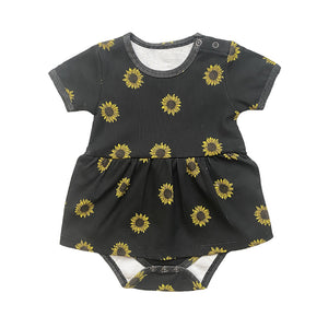 Anarkid - Sunflower AOP Frill Bodysuit | Rompers & Playsuits | Bon Bon Tresor
