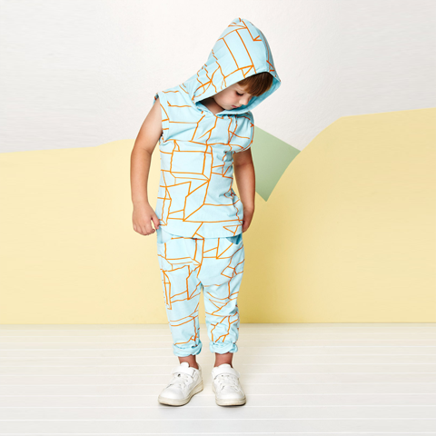Baobab Clothing - Boys Geo Sleeveless Hoodie - Bon Bon Tresor - 2