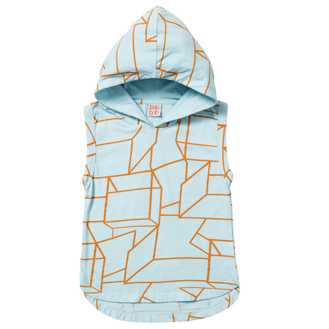 Baobab Clothing - Boys Geo Sleeveless Hoodie | Tops & T-Shirts | Bon Bon Tresor