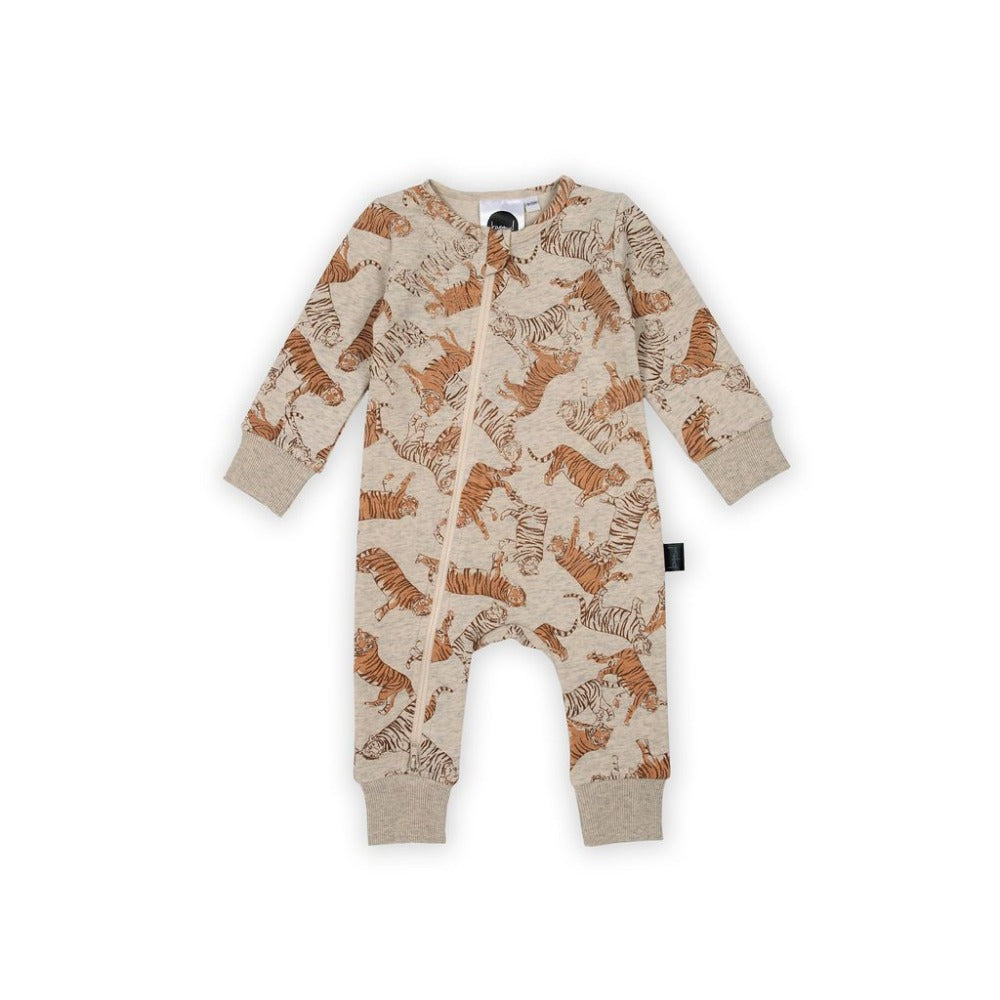 Kapow Kids - Toasted Tigers Zip All In One | Rompers & Playsuits | Bon Bon Tresor