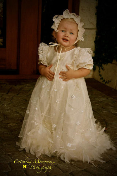 A Memory To Behold - A One Of A Kind Baby Girl Christening Gown - Bon Bon Tresor - 1