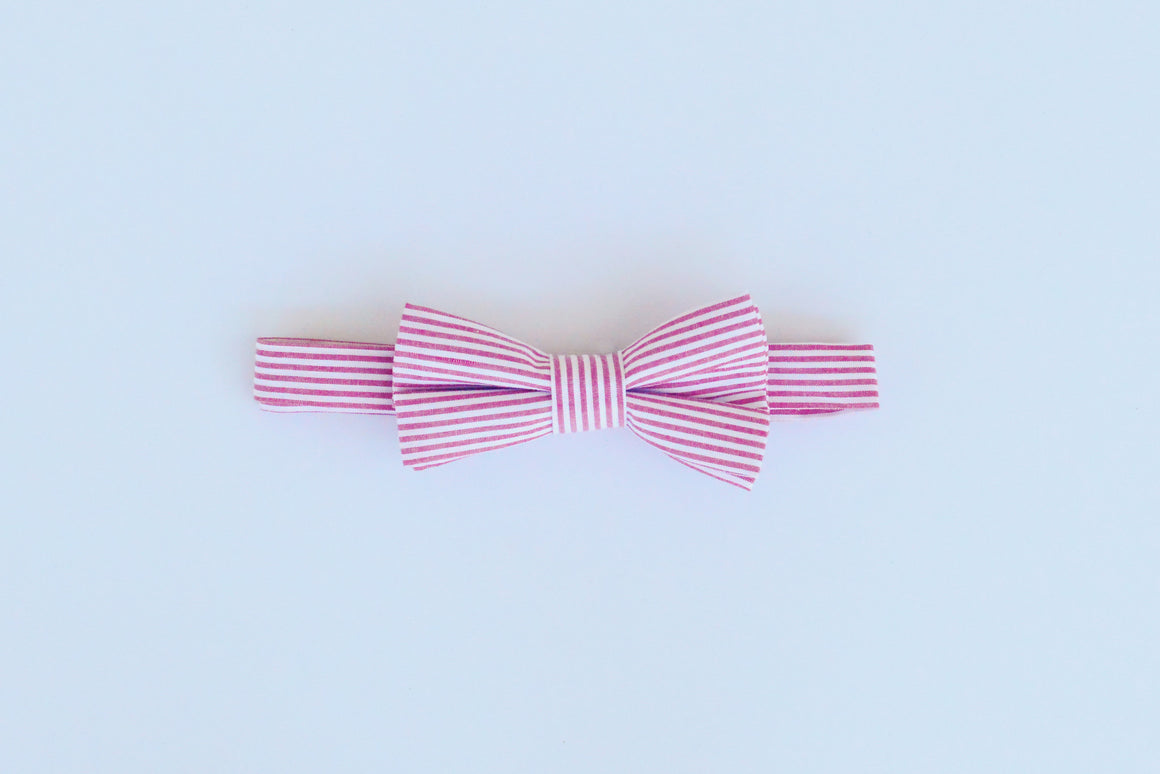 Foxy Fellow - Boys Alfie Red Stripe Bow Tie | Bow Tie | Bon Bon Tresor