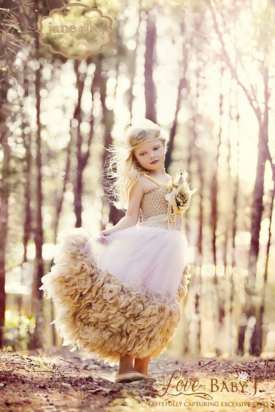 Angelic Fairy Swan - An Exquisite Girls Dress Of Chiffon and Feathers - Bon Bon Tresor - 1