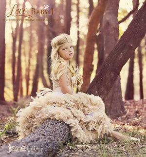 Angelic Fairy Swan - An Exquisite Girls Dress Of Chiffon and Feathers | Special Occasion | Bon Bon Tresor