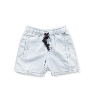 Munster Kids - Boys Bleach Beaten Blue Shorts | Pants & Shorts | Bon Bon Tresor