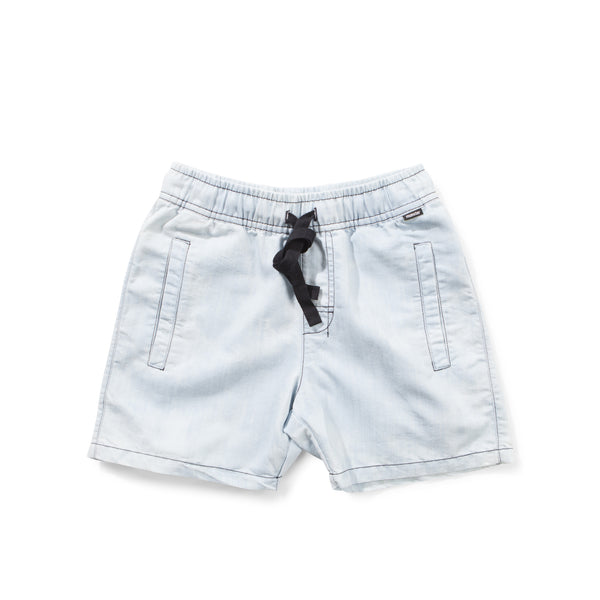 Munster Kids - Boys Bleach Blue Shorts - Bon Bon Tresor - 1