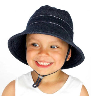 Bedhead Hat - Kids Bucket Hat Denim | Sun hat | Bon Bon Tresor