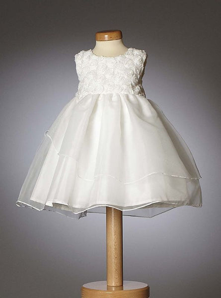 Christening - Baby Girl Organza Belle Dress - Bon Bon Tresor