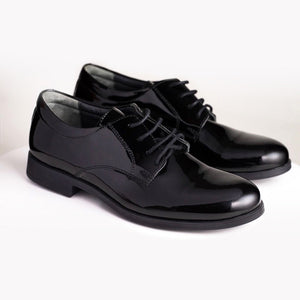 Woopy - Boys Black Giani Leather Shoe | Dress Shoes | Bon Bon Tresor