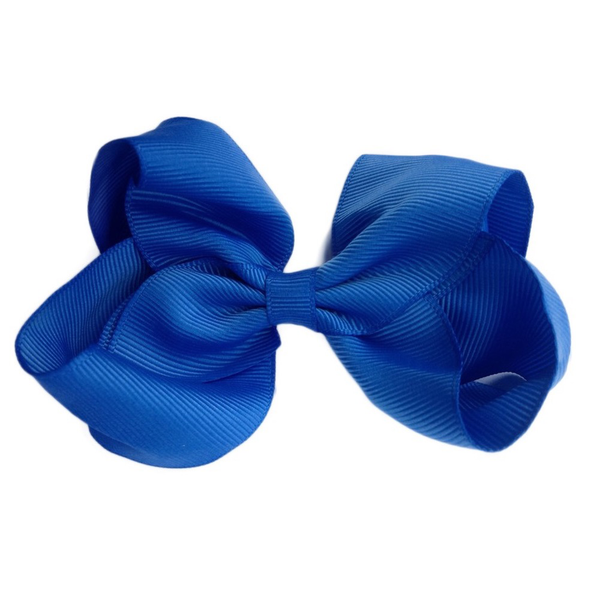 Sister Bows - Girls Royal Blue Bow Hair Clip