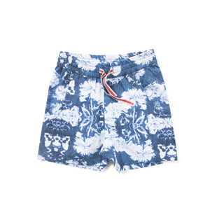 Munster Kids - Boys Navy Dead Flower Shorts | Pants & Shorts | Bon Bon Tresor