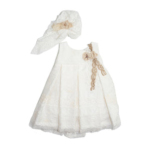 Styled By Alexandros - Baby Girl Broderie Anglaise Party Dress | Party Dresses | Bon Bon Tresor