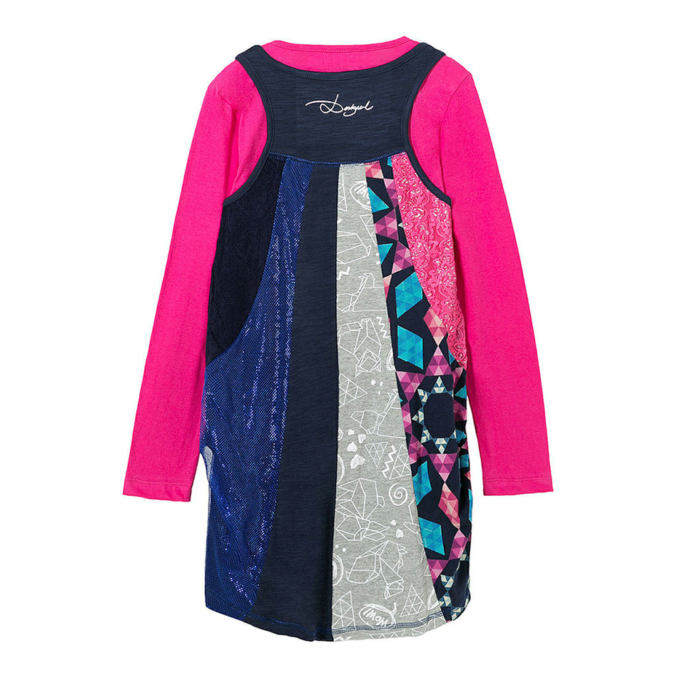 c08425c95352 Desigual Kidswear - Girls Two Piece Saint Paul Dress - Bon Bon Tresor