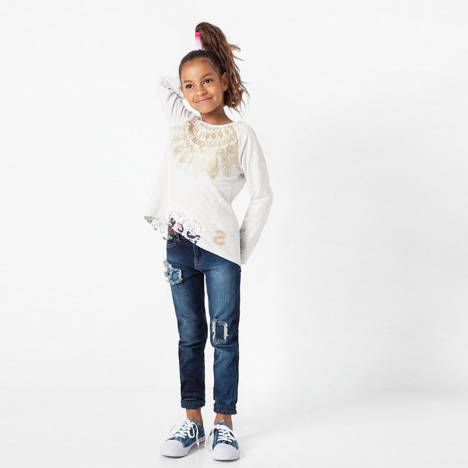 Desigual Kidswear - Girls Long Sleeve Sweat T-Shirt | Tops & T-Shirts | Bon Bon Tresor