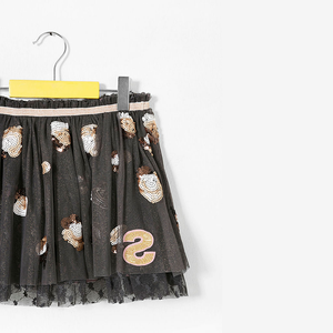 Desigual Kidswear - Girls Sequined Black Tulle Skirt | Dresses & Skirts | Bon Bon Tresor