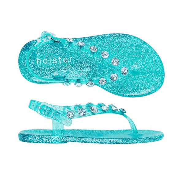 Holster Kids - Girls Glitter Daydream Clear Capri Sandal | Sandals | Bon Bon Tresor