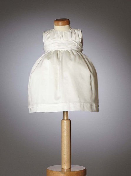 Christening - Baby Girl Roouched Bodice Grace Dress - Bon Bon Tresor
