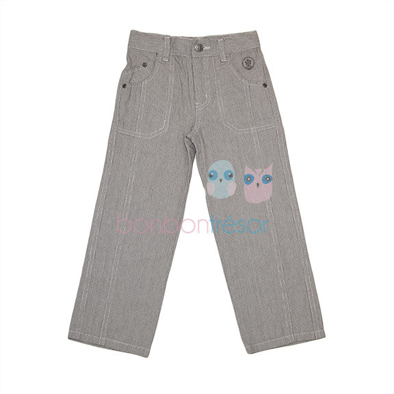 Alphabet - Boys Grey Dress Pant | Pants & Shorts | Bon Bon Tresor