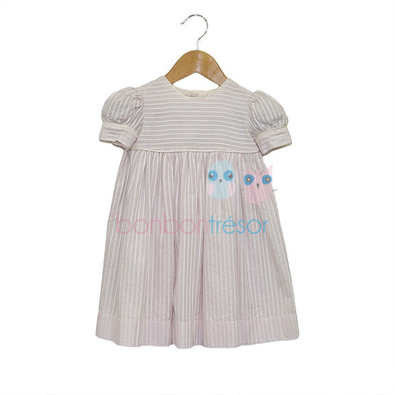 Christening - Baby Girl Pink Cotton Party Dress | Christening Dress | Bon Bon Tresor