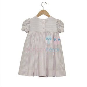 Christening - Baby Girl Pink Cotton Party Dress | Party Dresses | Bon Bon Tresor