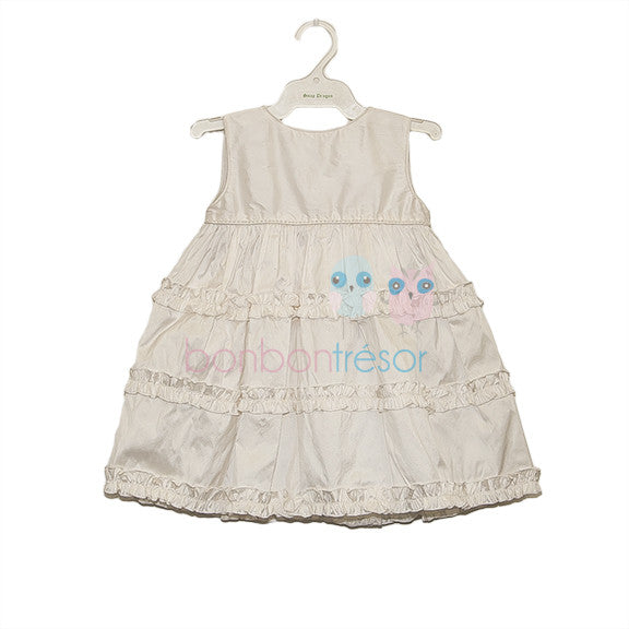 Christening - Baby Girl Silk Ruffle Dress | Christening Gown & Dresses | Bon Bon Tresor