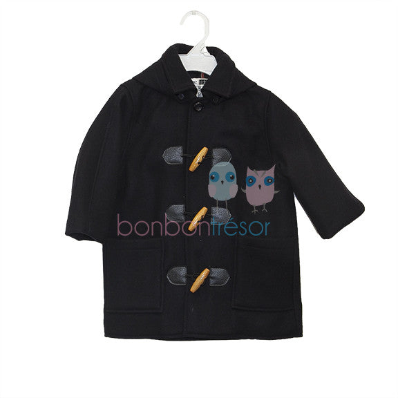 Christening - Baby Boy Navy Hooded Coat | Coats & Jackets | Bon Bon Tresor
