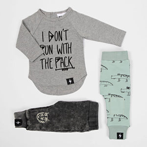 Kapow Kids - Boys Long Sleeve Wolf Pack Placement T-Shirt | Tops & T-Shirts | Bon Bon Tresor