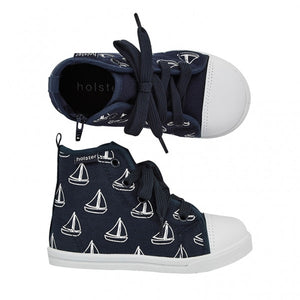 Holster Kids - Ahoy Navy High Top Shoe | Canvas | Bon Bon Tresor