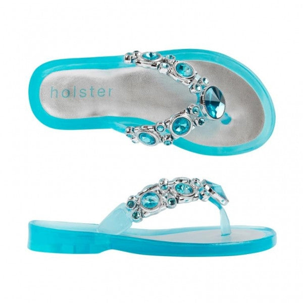 Holster Kids - Girls Shine Clear Capri Sandal | Sandals | Bon Bon Tresor