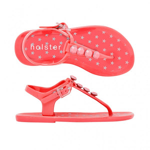 Holster Shoes - Kids Starbright Coral Pink Sandals | Sandals | Bon Bon Tresor