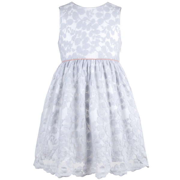 Hucklebones - Girls Powder Blue Lace Dress - Bon Bon Tresor - 1