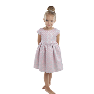 Luna Luna - Girls Pink Charmed Jacquard Dress | Party Dresses | Bon Bon Tresor