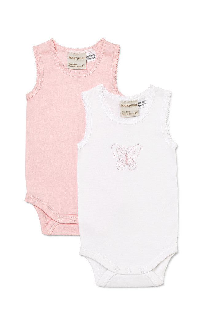 Marquise - 2pk Baby Girls Body Singlets | Rompers & Playsuits | Bon Bon Tresor