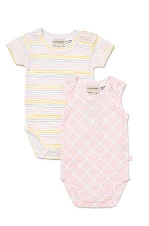 Marquise - 2pk Baby Girls Summer Bodysuit | Rompers & Playsuits | Bon Bon Tresor