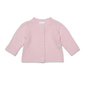 Marquise - Pink Cotton Knitted Cardigan | Sweaters & Knitwear | Bon Bon Tresor