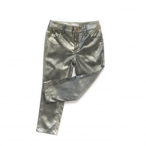 Carbon Soldier - Girls Gold Napoleon Skinnie Pants - Bon Bon Tresor - 1