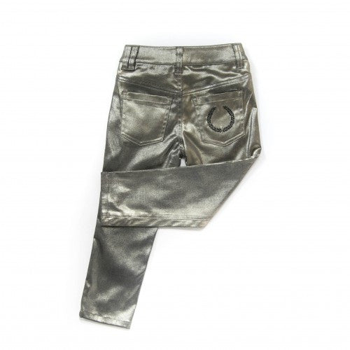 Carbon Soldier - Girls Gold Napoleon Skinnie Pants - Bon Bon Tresor - 2