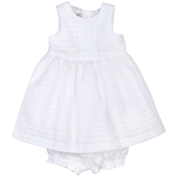 Hucklebones - Baby Girl White Organza Bodice Dress | Party Dresses | Bon Bon Tresor