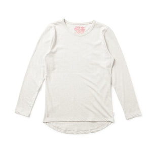 Missie Munster - Girls Long Sleeve Oatmeal Marle Top | Tops & T-Shirts | Bon Bon Tresor